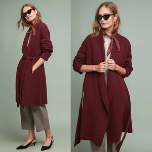 Anthropologie Moth brand wrap coat size small